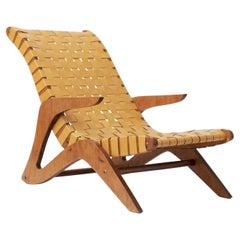 José Zanine Caldas Midcentury Linea Z Lounge Chair, Brazil, 1950s