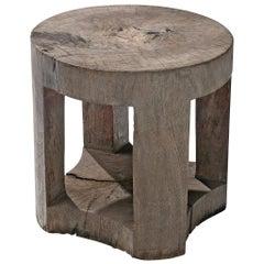 José Zanine Caldas Round Side Table in Brazilian Hardwood