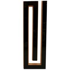 "Josecho López Llorens Geometric Black Lacquered Pine Wood ""Spiral"" Sculpture"