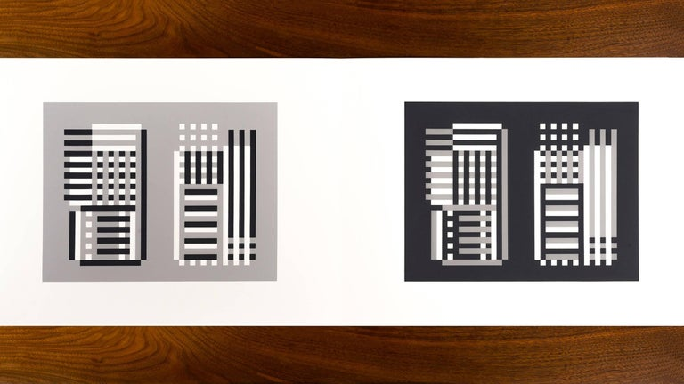 Josef Albers Formulations - Articulations I & II Edition 974/1000 1972 screenprint on paper #11 Embossed with Josef Albers initials, portfolio and folder number. This work is published by Harry N. Abrams and Ives-Sillman. This work has never