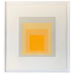 """Josef Albers, """"Homage to the Square"""", signed silkscreen, Pace Prints, 1973"""