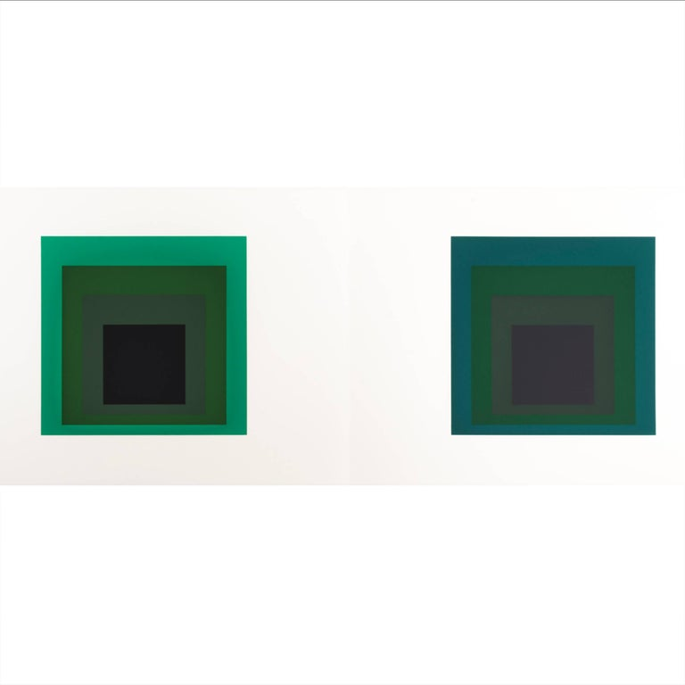 Josef Albers Homage to the Square Silk Screen Diptych
