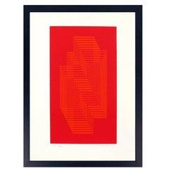 """Josef Albers Original Signed Screenprint """"Ascension"""""""