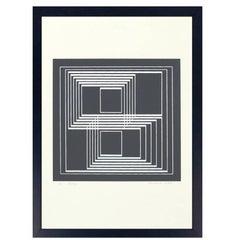 "Josef Albers Original Signed Screenprint ""Seclusion"""
