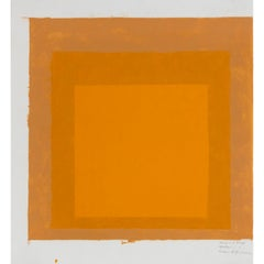Josef Albers: Study on Homage to the Square, without year (sixties)