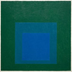 """Study for Homage to the Square: """"Blue Glow"""""""