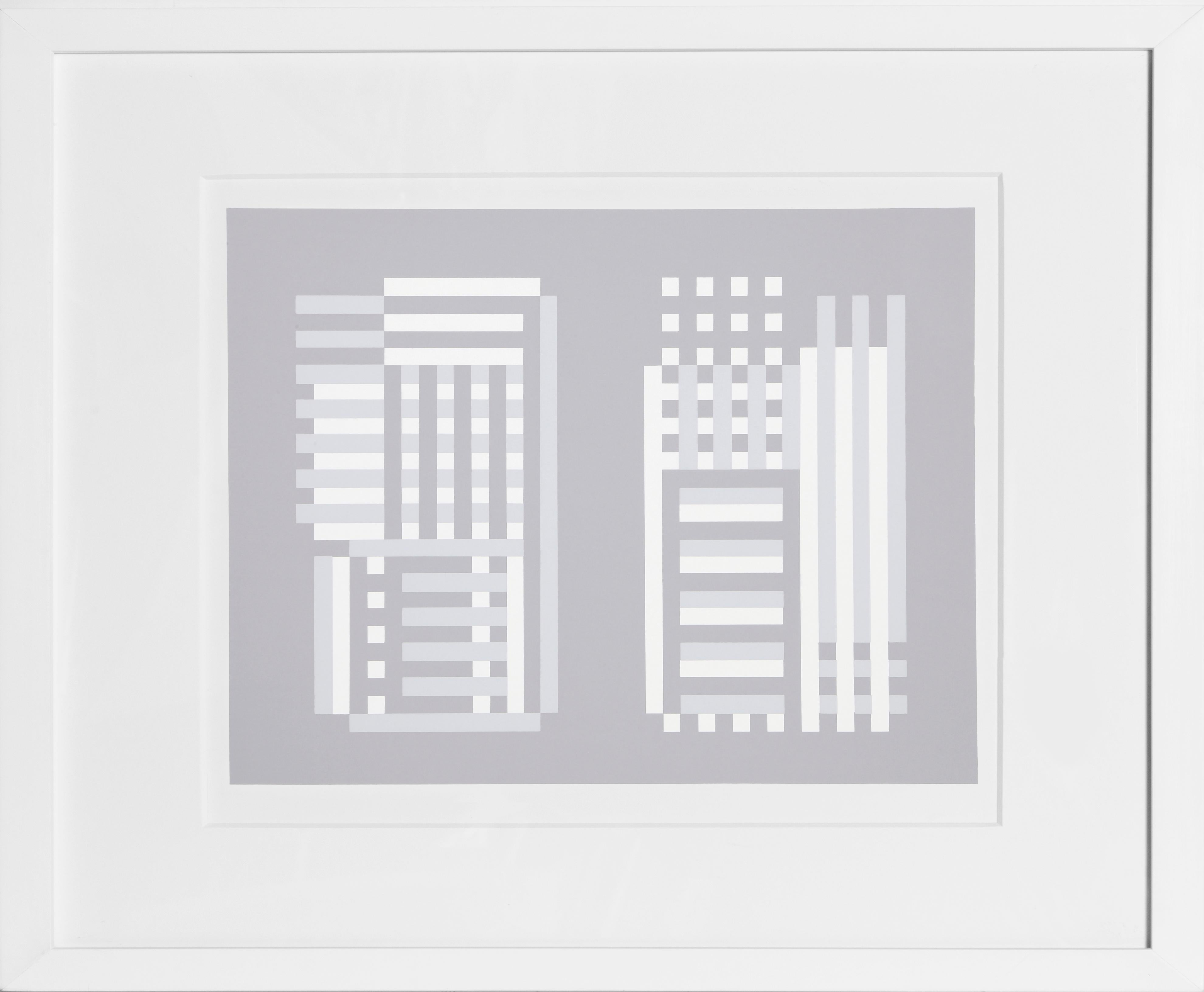 Abstract Framed Silkscreen by Josef Albers