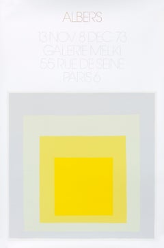 """""""Albers - Galerie Melki Paris (gray)"""" Homage to the Square Mid Century poster"""