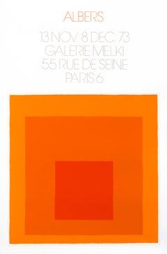"""""""Albers - Galerie Melki Paris (orange)"""" Homage to the Square Mid Century poster"""