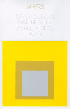 """""""Albers - Galerie Melki Paris (yellow)"""" Homage to the Square Mid Century poster"""