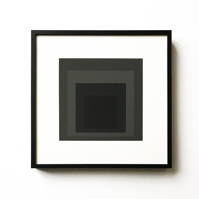 (after) Josef Albers Abstract Print - Announcement Card for Albers' 84th Birthday Editions, Abstract Art