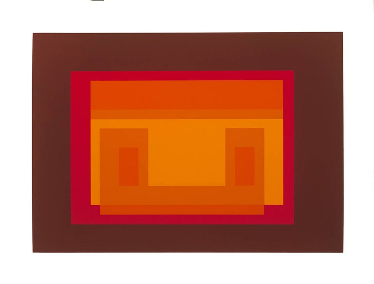 Josef Albers Abstract Print - Articulation : Formulation, Portfolio I Folder 11 (B)