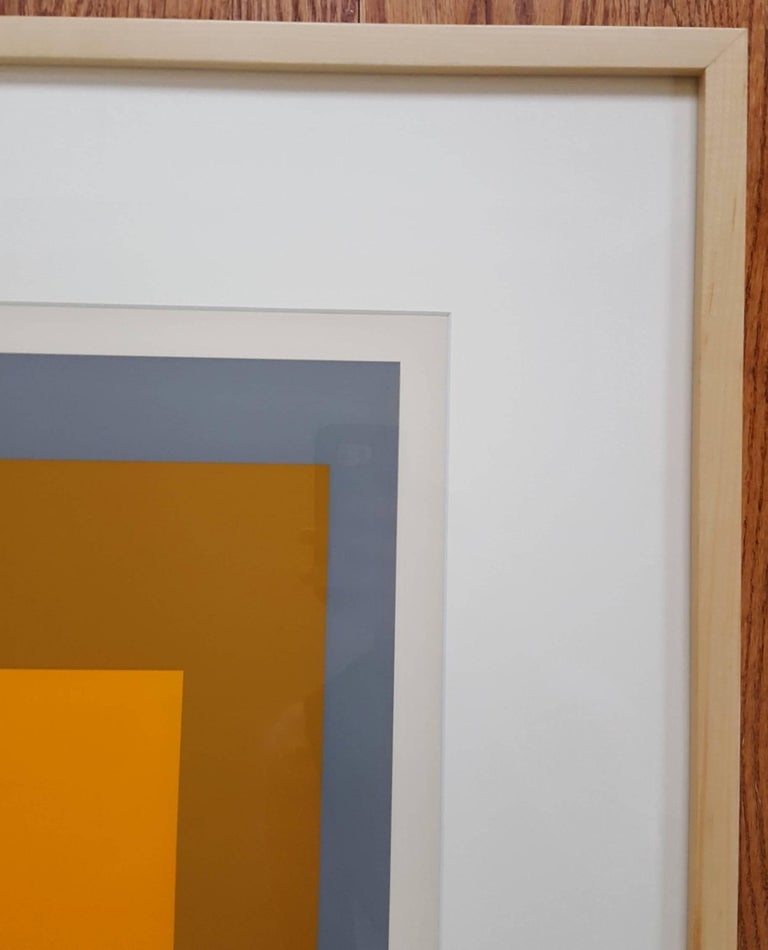 FGa - Brown Abstract Print by Josef Albers
