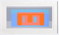 Geometric Abstract Silkscreen by Josef Albers 1972