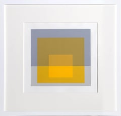 Homage to the Square, Framed Silkscreen by Josef Albers 1972