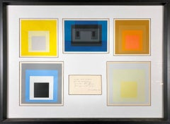 Homage to the Square (Set of Six Cards w/ Hand-Written Dedication from Albers )
