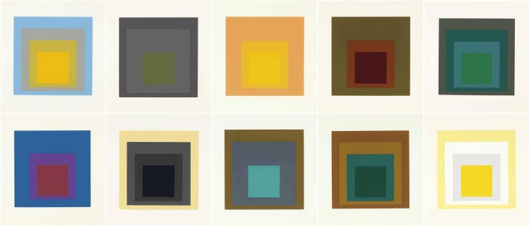 <i>Homage to the Square: Ten Works (Complete Portfolio)</i>, 1962, by Josef Albers