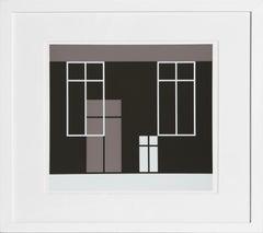 House from Formulation: Articulation, Framed Silkscreen by Josef Albers