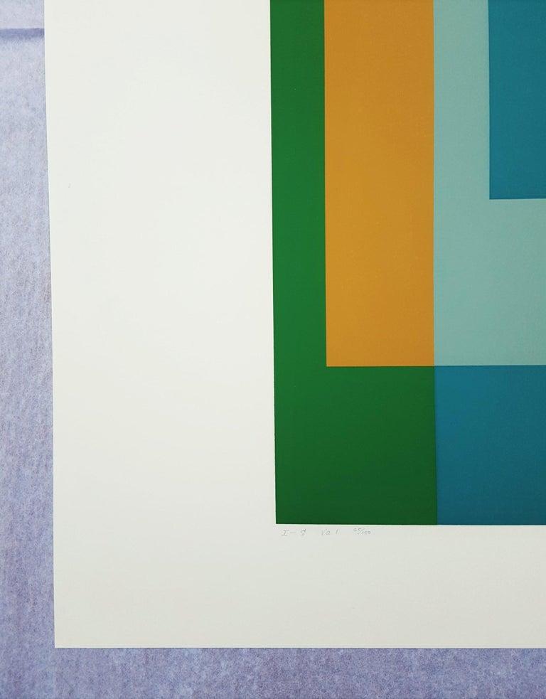 I-S Va I - Abstract Geometric Print by Josef Albers