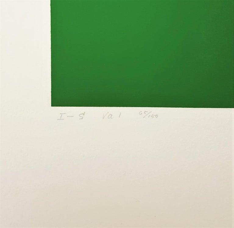 I-S Va I - Orange Abstract Print by Josef Albers