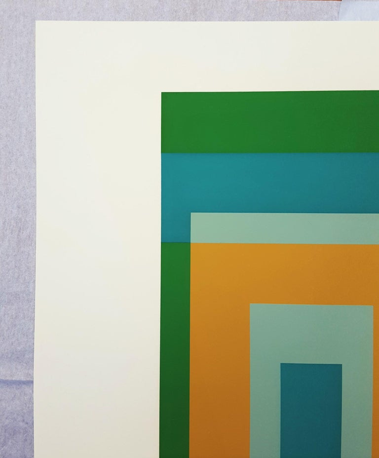 An original signed screenprint on Arches wove paper by German-American artist Josef Albers (1888-1976) titled
