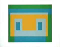 I - S va I - Original Silkscreen by Josef Albers - 1969
