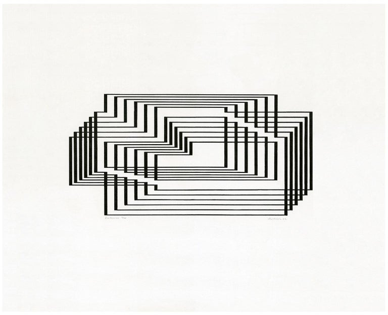 'Interim', from the series 'Graphic Tectonics' - Print by Josef Albers