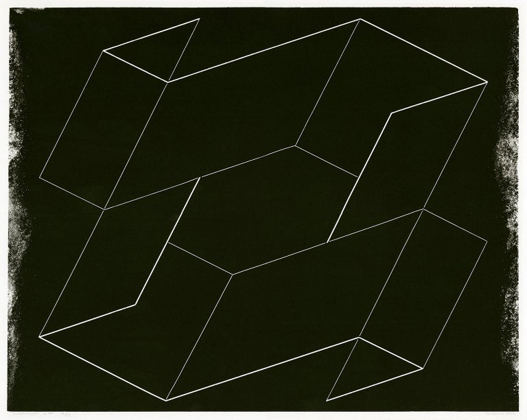 Josef Albers Abstract Print - Interlinear K50