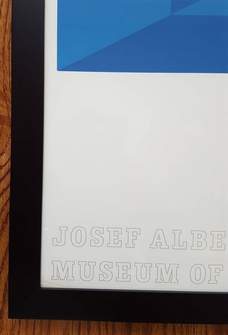 Josef Albers at the Metropolitan Museum of Art - Blue Abstract Print by Josef Albers