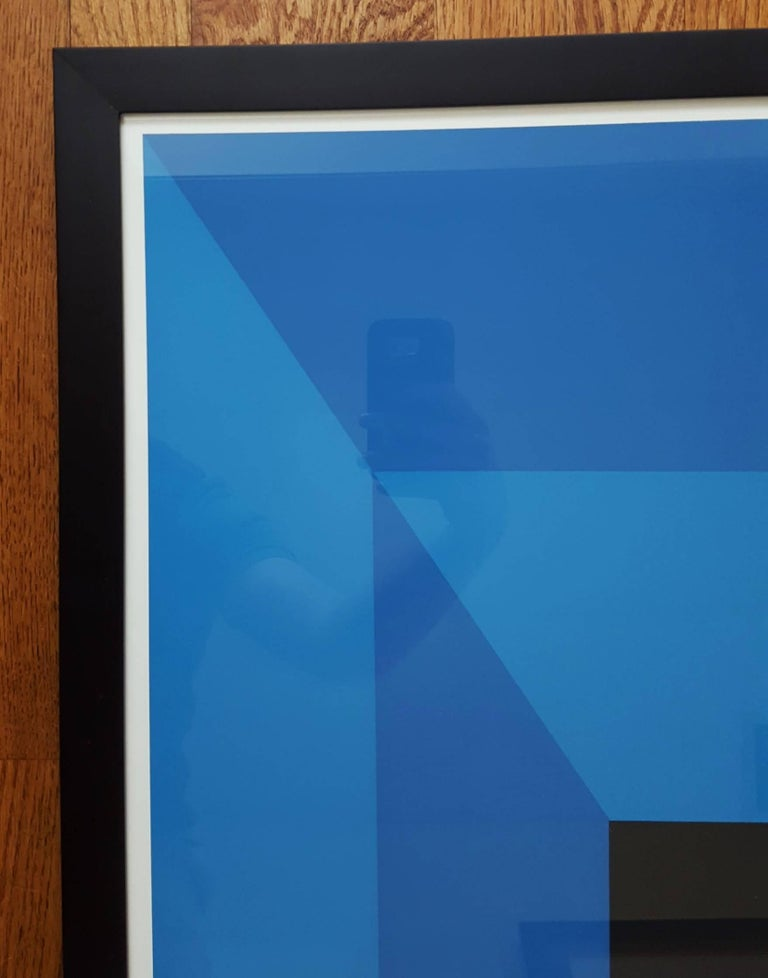 An original screenprint exhibition poster by German-American artist Josef Albers (1888-1976) titled
