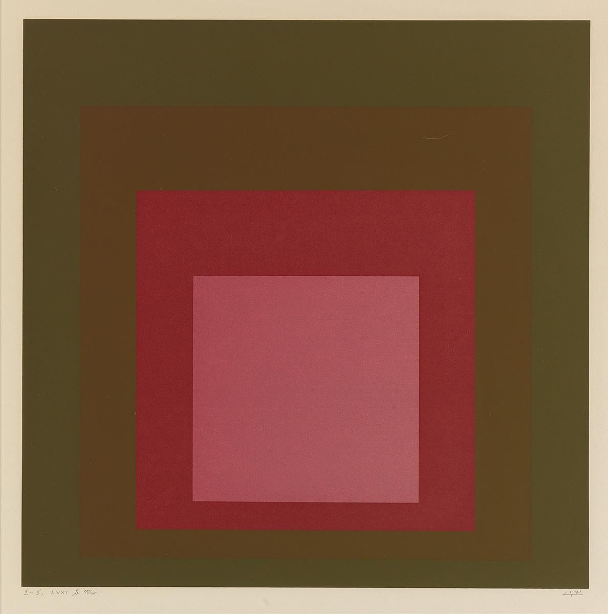 """Josef Albers """"I-S LXXI b"""" Hommage to the Square"""