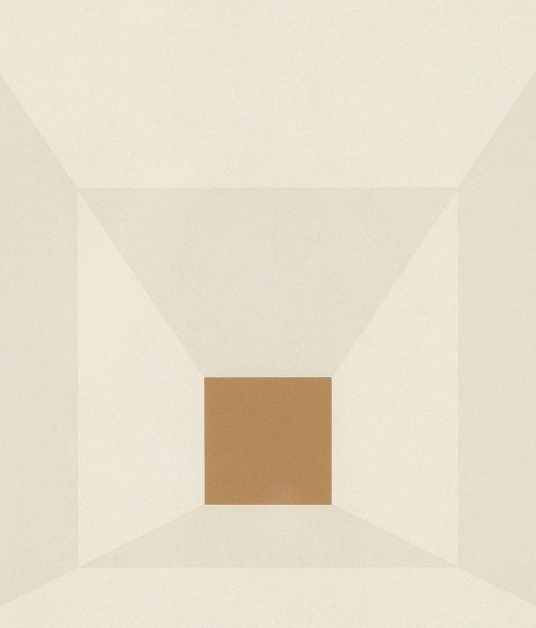 "Josef Albers ""Mitered Squares - Mahogany"" Screenprint, 1976"