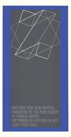 "Josef Albers-The 10th New York Film Festival-50"" x 26""-Serigraph-1972-Abstract"