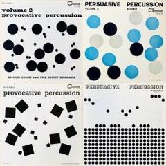 Josef Albers vinyl record album art (set of 4)