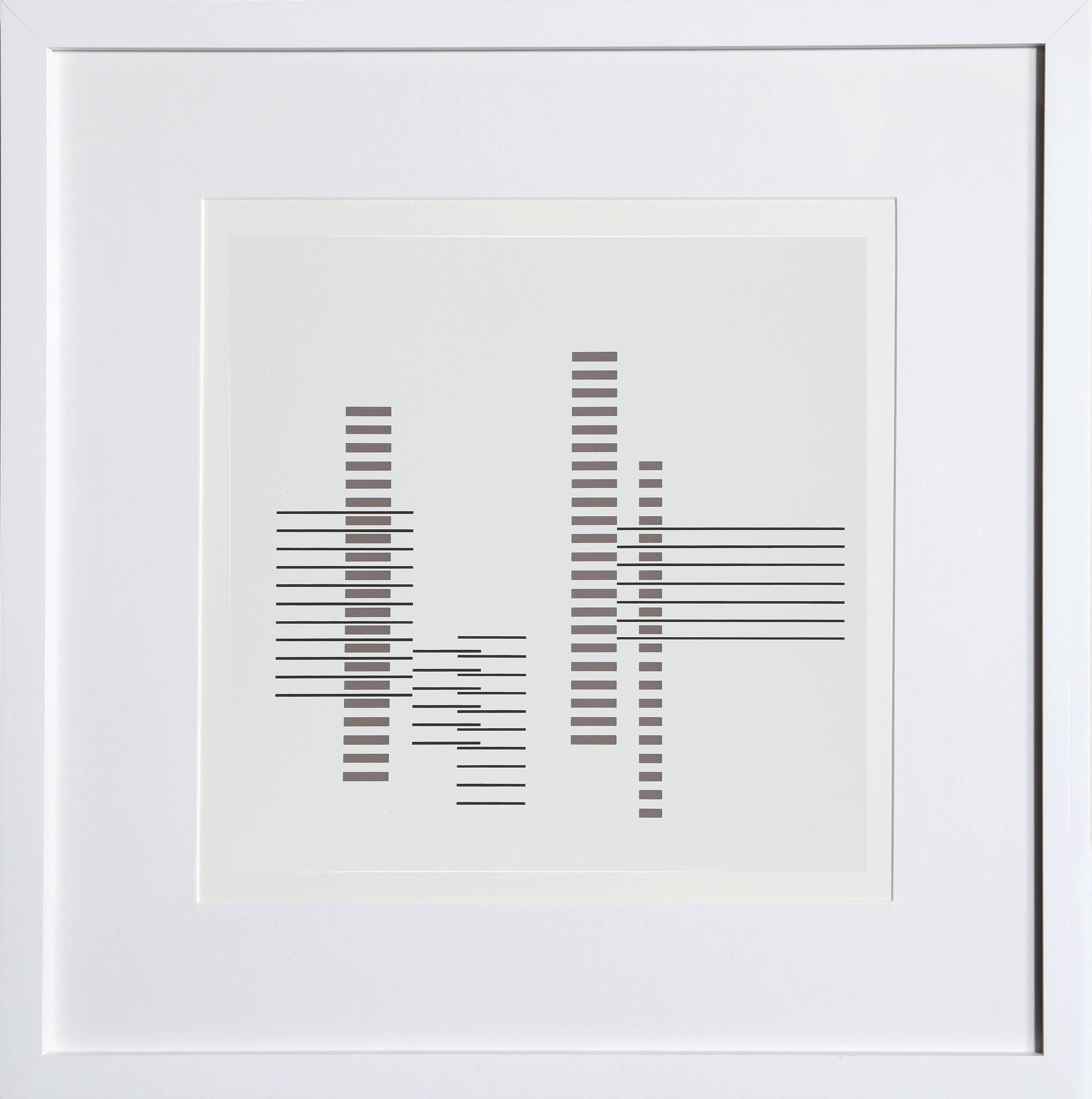 Minimalist Geometric Abstract Silkscreen by Josef Albers 1972