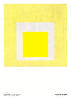Poster Study for Homage to the Square:Evident Moderna Museet Yellow Gray Minimal
