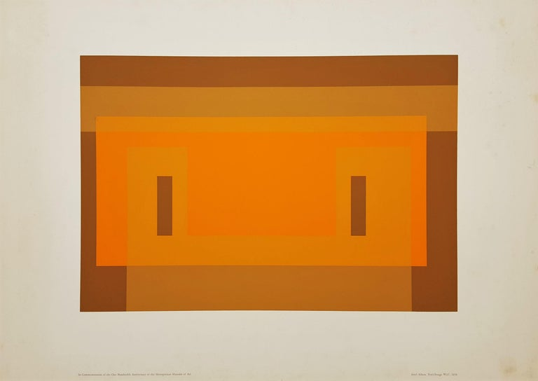 Red Orange Wall (1959) - Print by Josef Albers