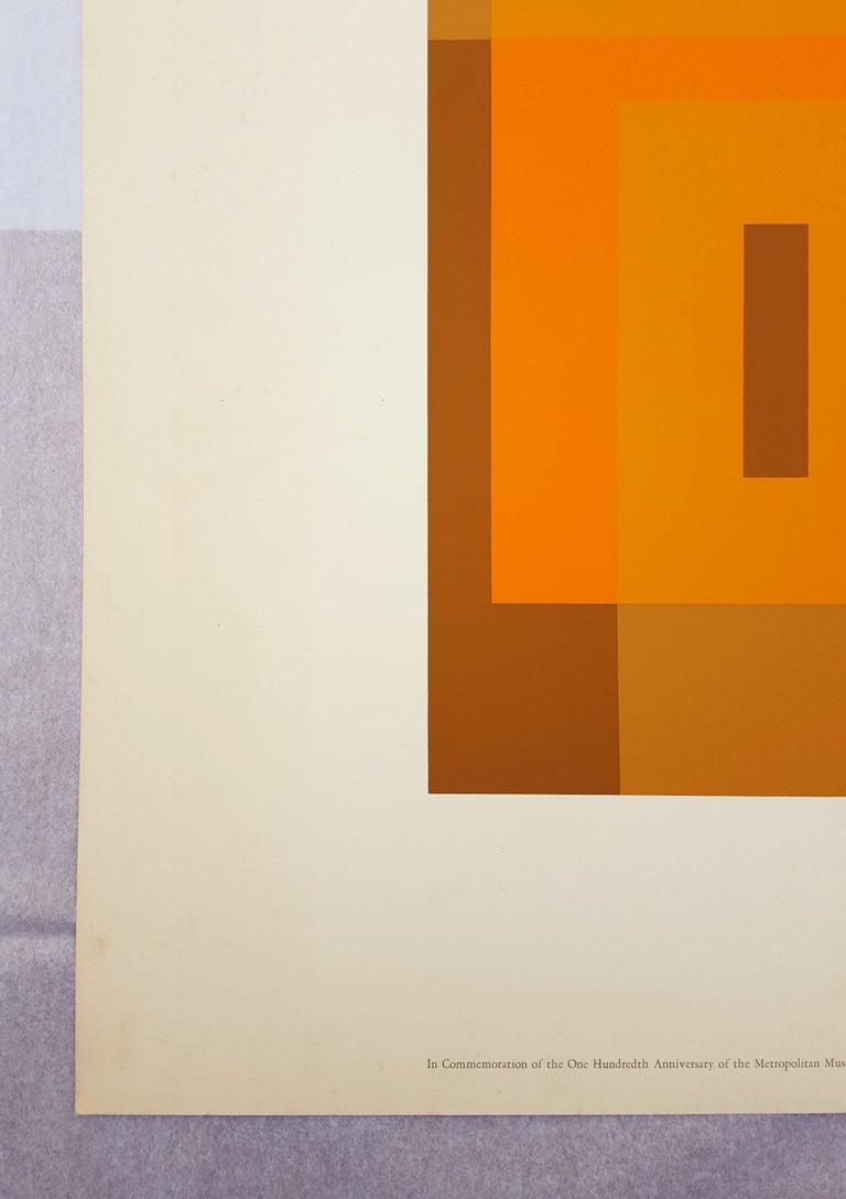 Red Orange Wall (1959) - Abstract Geometric Print by Josef Albers