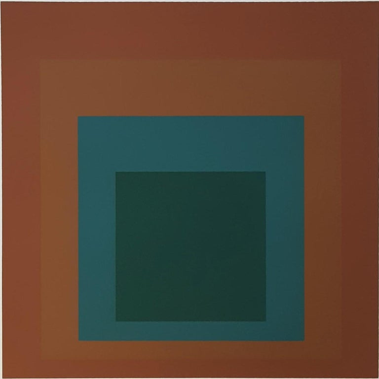 Josef Albers Abstract Print - Reserved