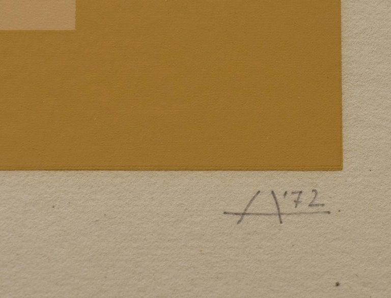 SK-Ed  Screenprint in Colours German American Post War - Brown Abstract Print by Josef Albers