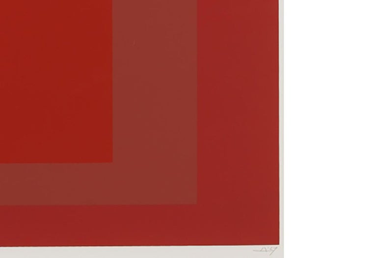 SP V - Red Abstract Print by Josef Albers