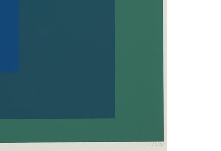 SP XII - Gray Abstract Print by Josef Albers