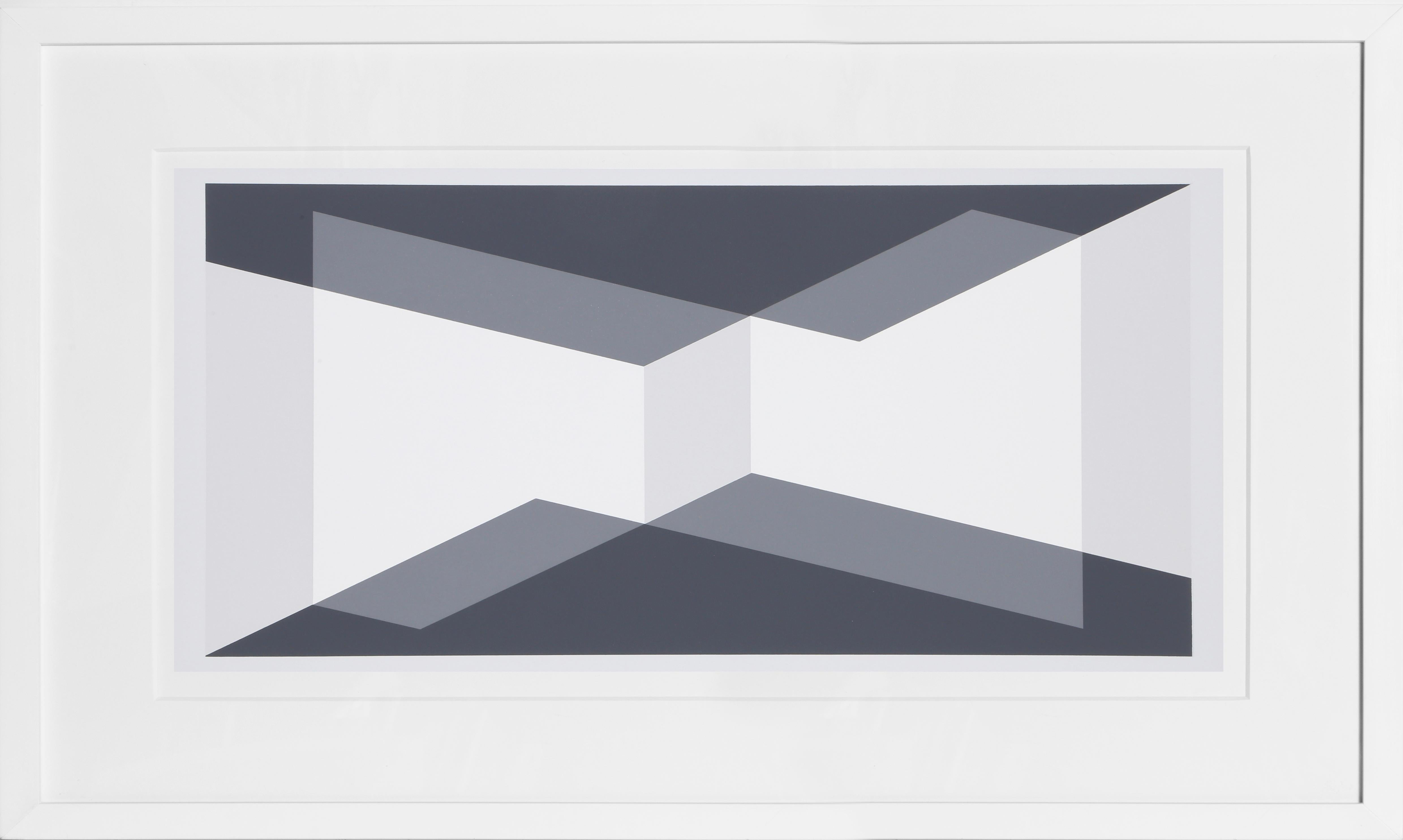 Trapezoid Composition Silkscreen by Josef Albers 1972