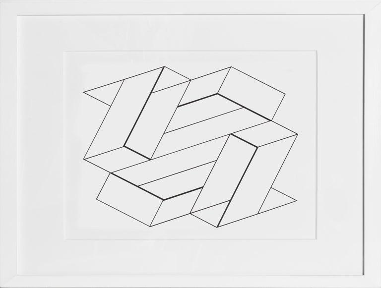 Artist:Josef Albers Title:Untitled from the Portfolio: Formulation: Articulation (Double Portfolio) - Portfolio 2, Folder 10, Image 2 Year:1972 Medium:Silkscreen Edition:1000 Paper Size:15 x 20 inches [38.1 x 50.8 cm]  Frame: 19 x 24