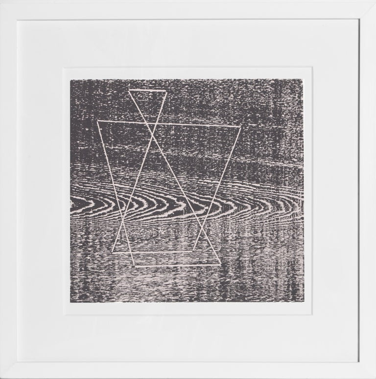 Artist:Josef Albers Title:Portfolio 2, Folder 20, Image 1 from Formulation: Articulation Year:1972 Medium:Silkscreen Edition:1000 Paper Size:15 x 20 inches [38.1 x 50.8 cm]  Frame: 22 x 22 inches  In an excellent white contemporary frame.