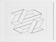 Untitled from Formulation: Articulation, Framed Silkscreen by Josef Albers