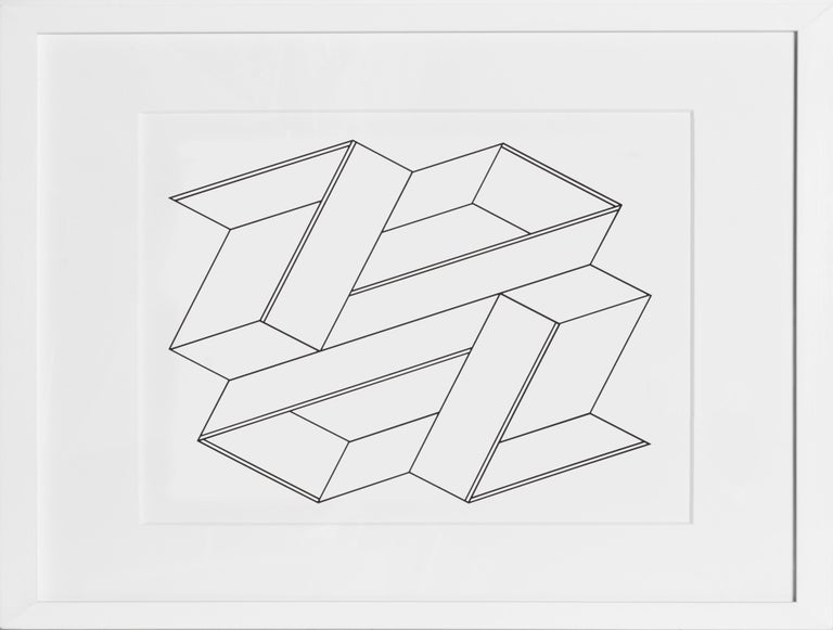 Artist:Josef Albers Title:Portfolio 2, Folder 21, Image 2 from Formulation: Articulation Year:1972 Medium:Silkscreen Edition:1000 Paper Size:15 x 20 inches [38.1 x 50.8 cm]  Frame: 19 x 24 inches  In an excellent white contemporary frame.