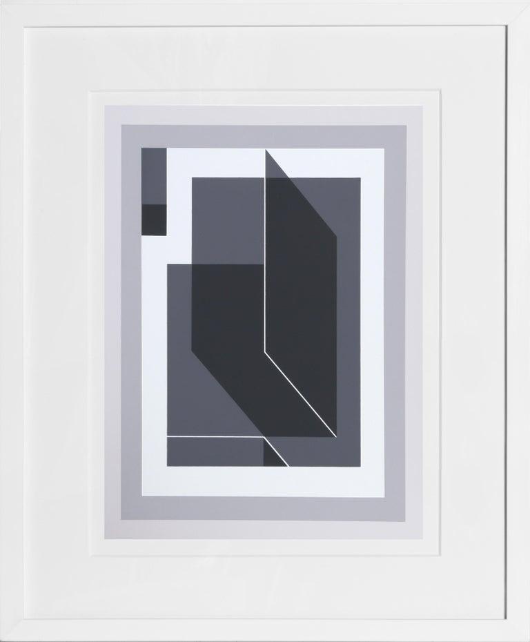 Untitled from Formulation: Articulation, Framed Silkscreen by Josef Albers 1