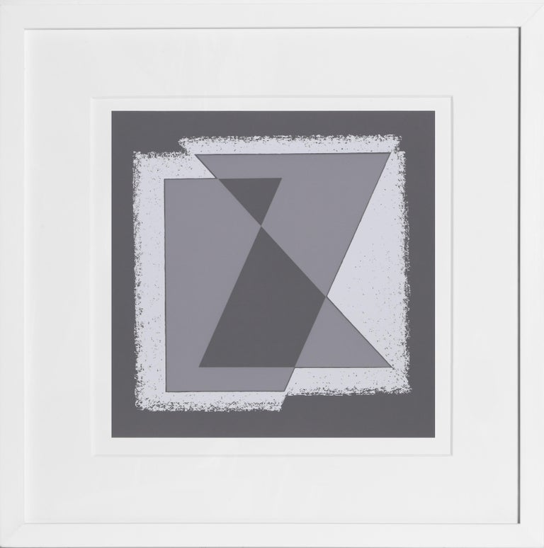 Artist:Josef Albers Title:Portfolio 2, Folder 30, Image 1 from Formulation: Articulation Year:1972 Medium:Silkscreen Edition:1000 Image Size: 12 x 11.5 inches Paper Size:15 x 20 inches [38.1 x 50.8 cm]  Frame: 22 x 22 inches  In an excellent