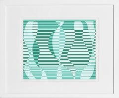 Untitled from Formulation: Articulation, Framed Silkscreen by Josef Albers